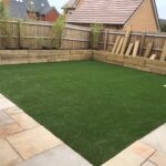 Patio and raised beds from railway sleepers