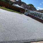 Resin bond driveway finished