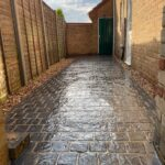 Decorative concrete drive and paths