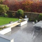 Patio, wall and seating