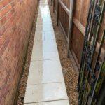 Garden path and patio