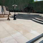 Large dramatic patio and steps