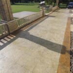 large walled patio